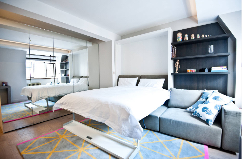 Спальня и гостиная, 2 в 1