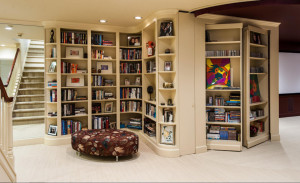 Книжные стеллажи и шкафы в интерьере