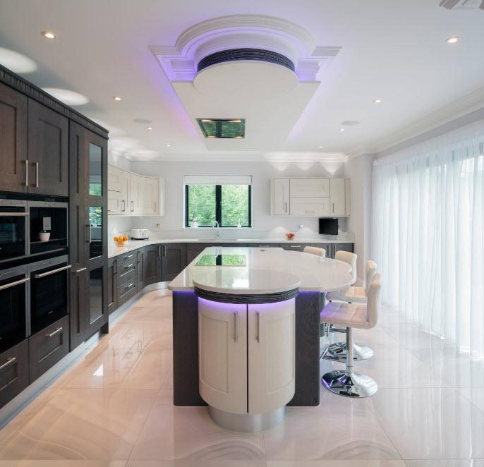 Визуальное увеличение высоты кухни
