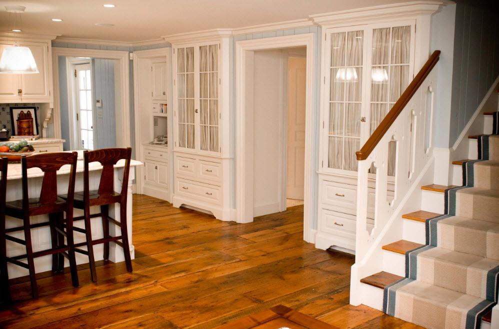 Светлый текстиль для кухонной мебели