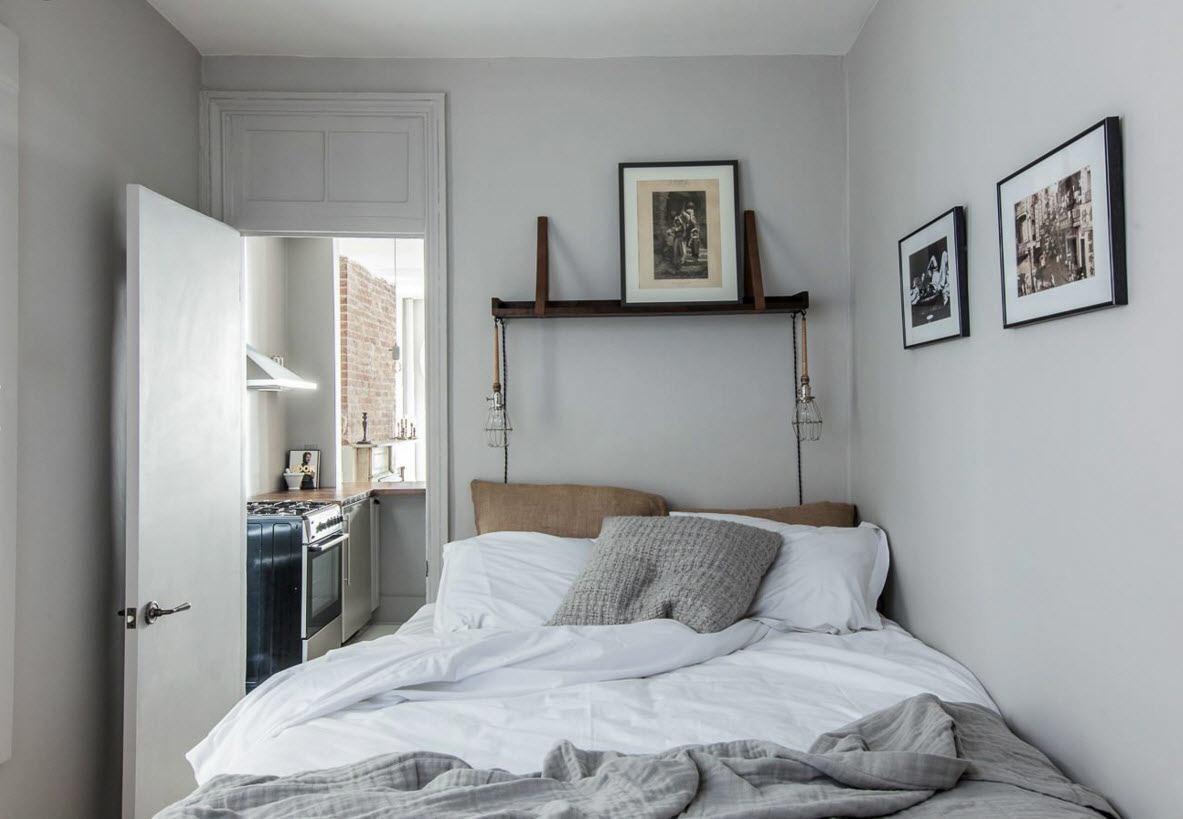 Интерьер спальни скромных размеров