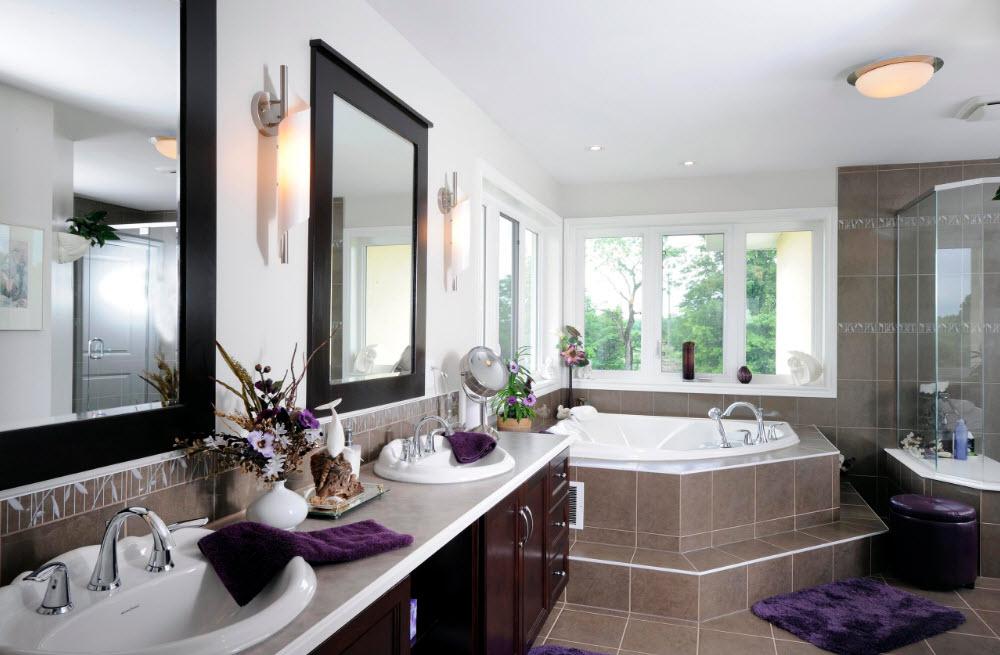 Угловая ванна со ступенями