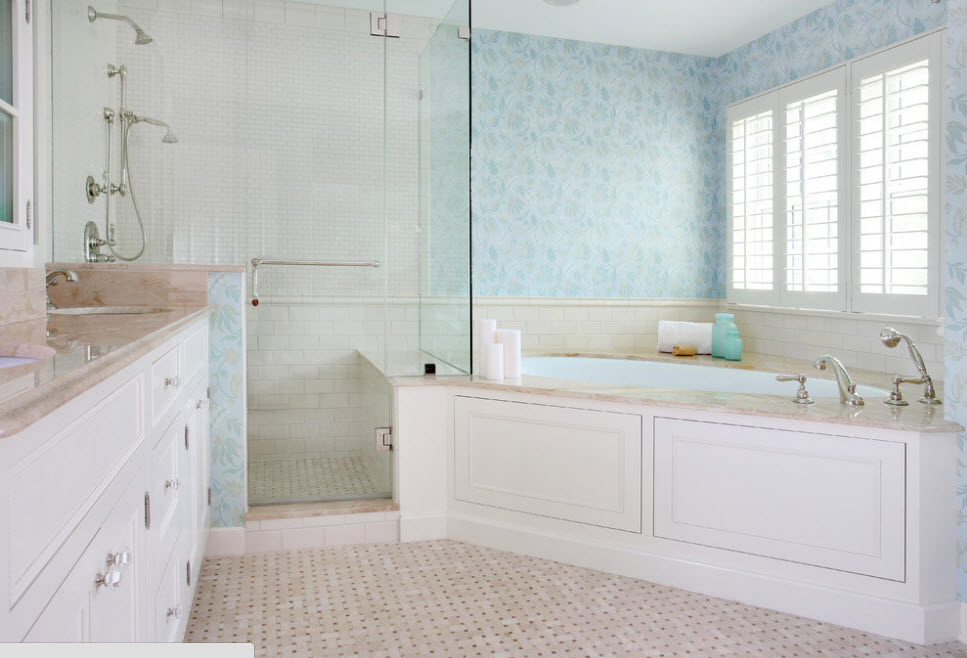 Светлый образ ванной комнаты