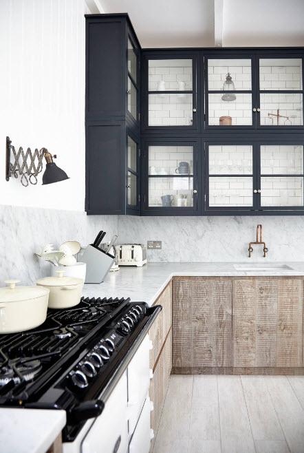 Контрастные сочетания в кухне