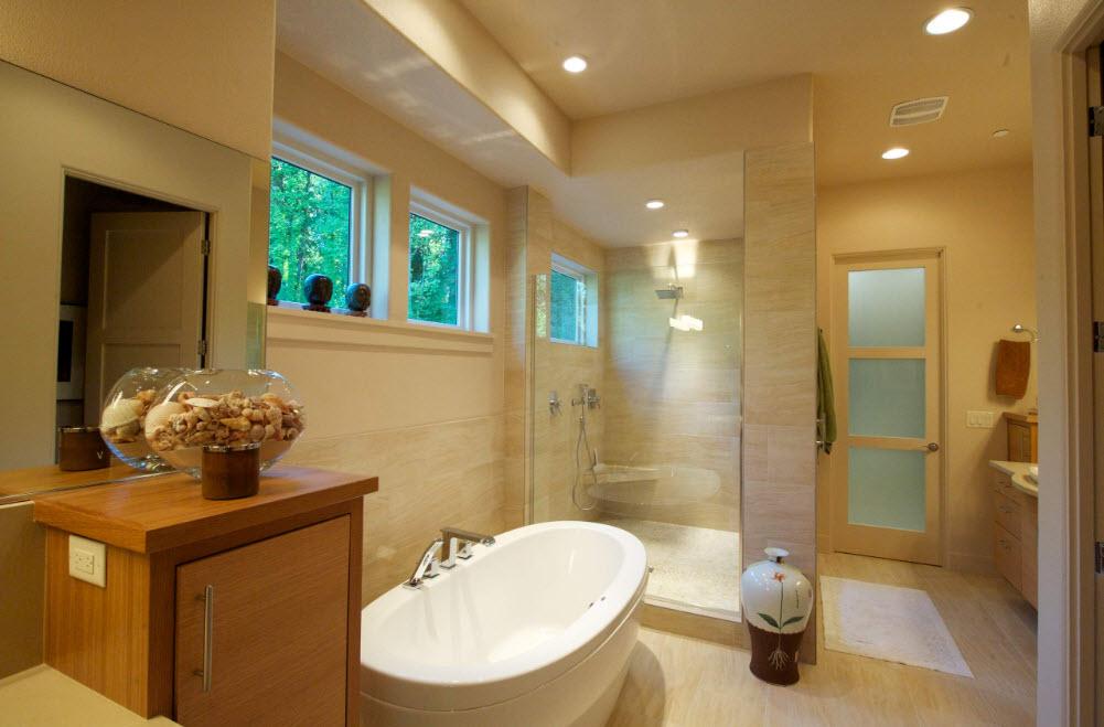 Белая ванна на золотистом фоне