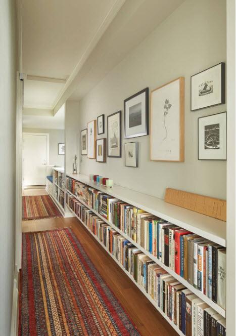 Невысокий стеллаж для книг