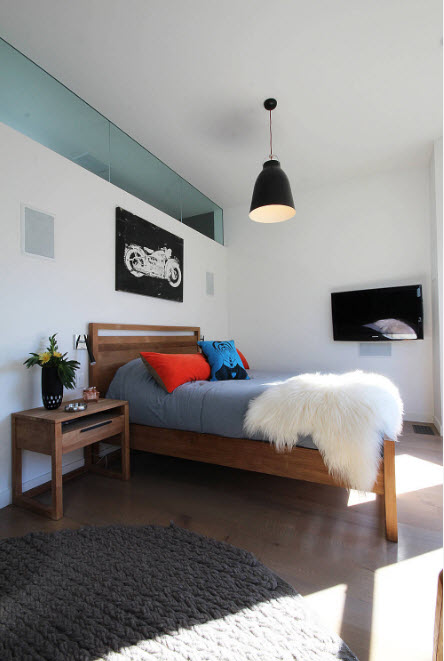 Контрастный дизайн спальни