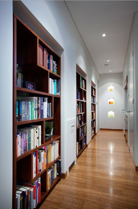 Встроенные книжные стеллажи