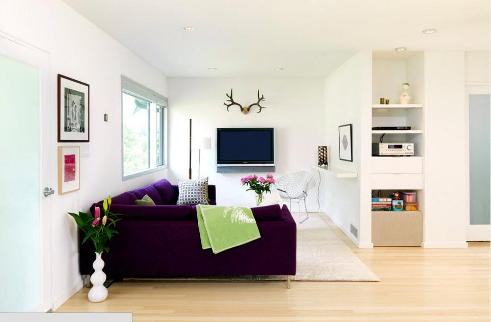 Акцент на мягкую мебель