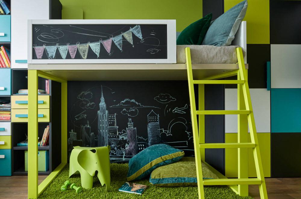 Яркий дизайн для комнаты ребенка