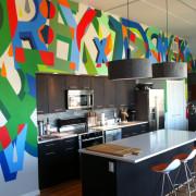 Яркий дизайн для современной кухни