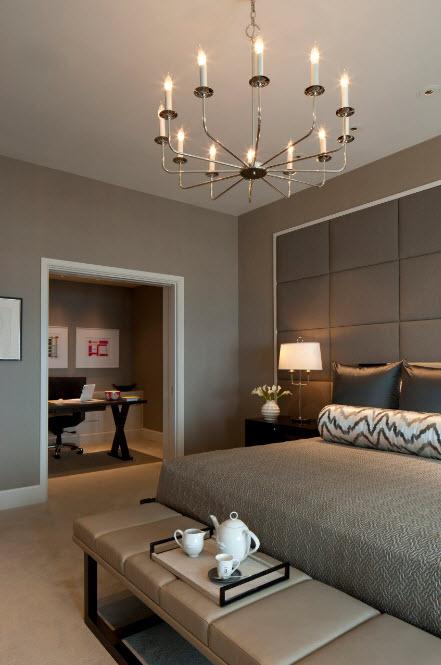 Мягкая отделка стены над кроватью