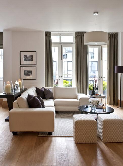 Планировка современной гостиной
