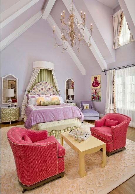 Роскошная обстановка девичьей комнаты