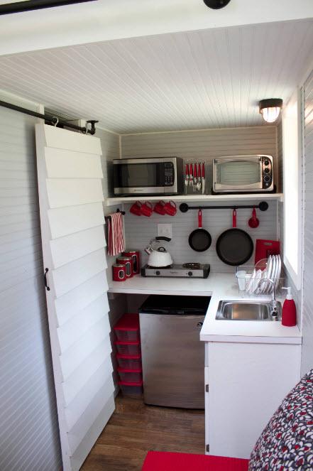 В очень маленькой кухне