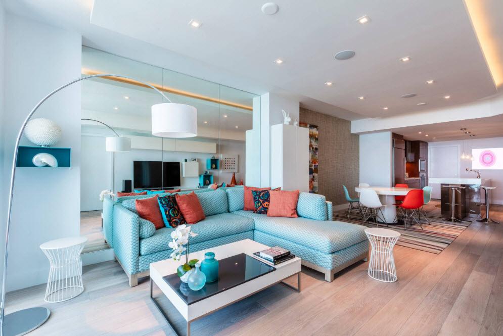Оригинальные цветовые решения для гостиной
