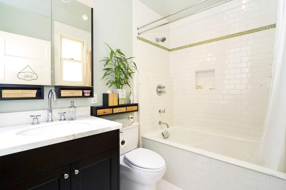 Плитка средних размеров для маленькой ванной