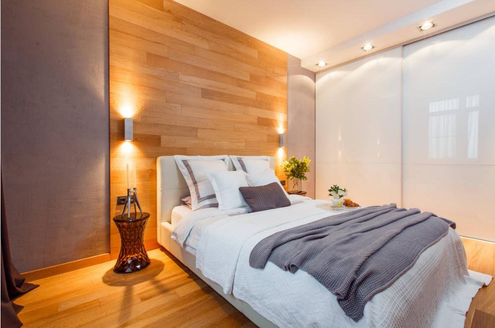 Использование дерева в спальне