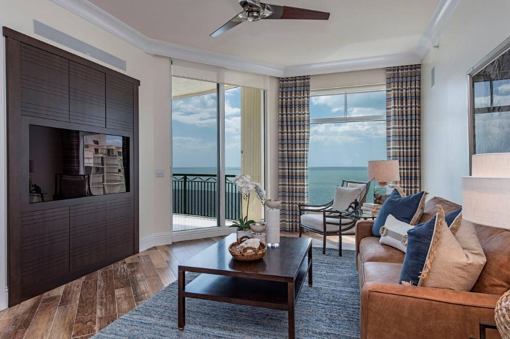 Свежесть и простор в дизайне гостиной