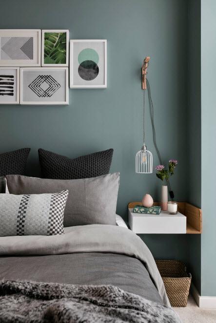 Сочетание цвета стен и мебели