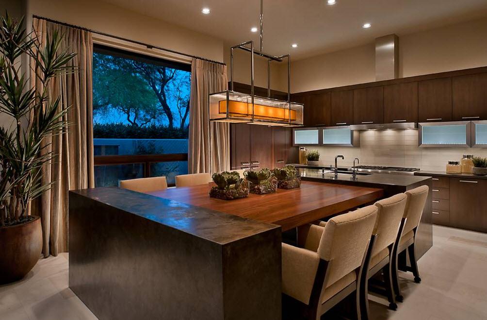 Шторы в кухонном пространстве