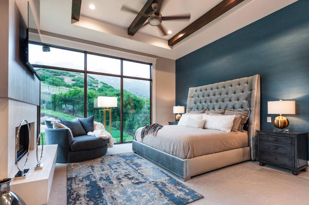 Окрашенные стены спальни