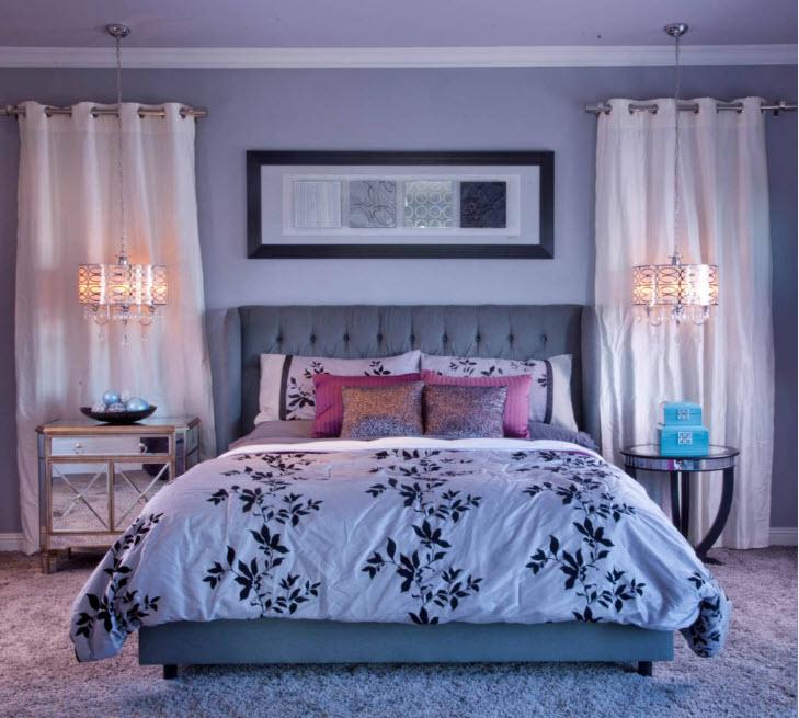 Необычное решение по освещению спальни