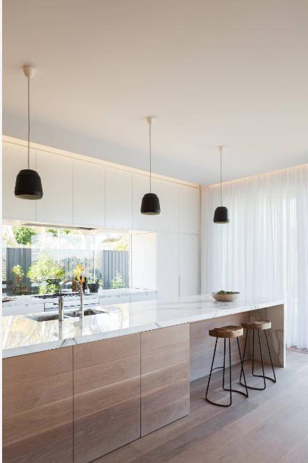 Светлый образ кухонного помещения