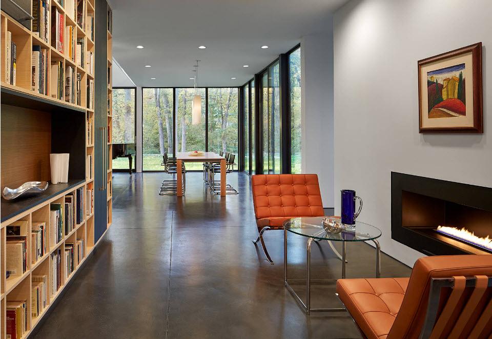 Скромная меблировка современной гостиной