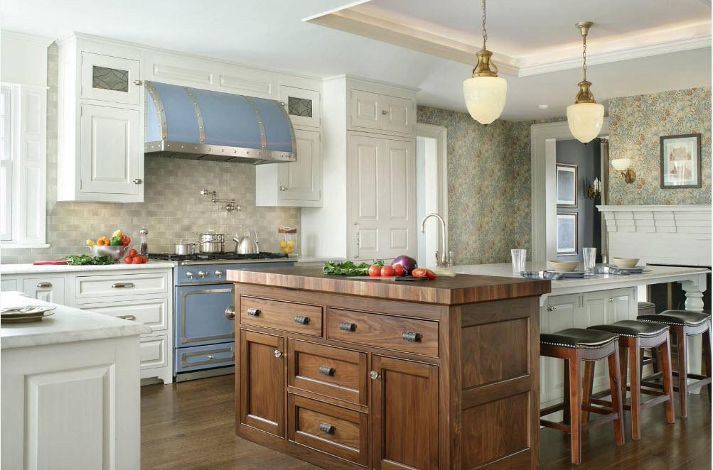 Стиль Прованс для просторной кухни