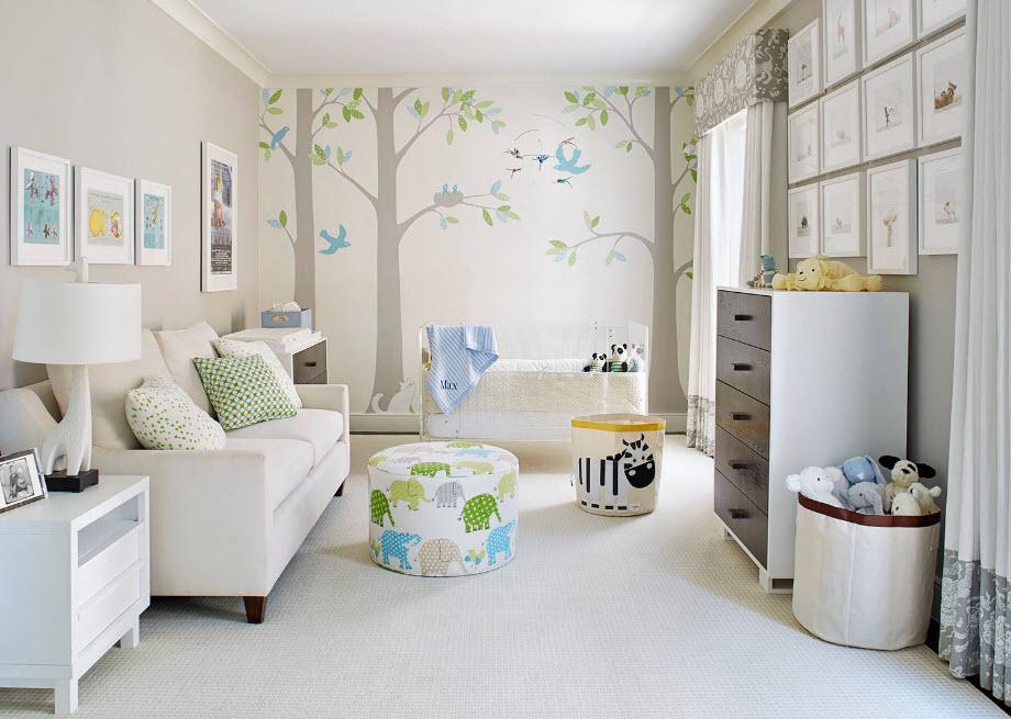 Интерьер комнаты для младенца