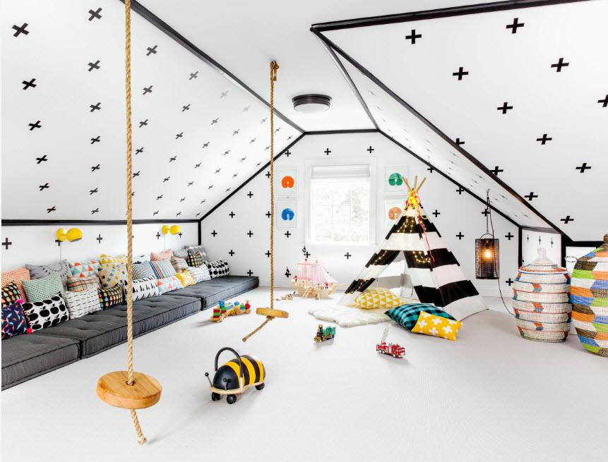 Детская комната на мансарде