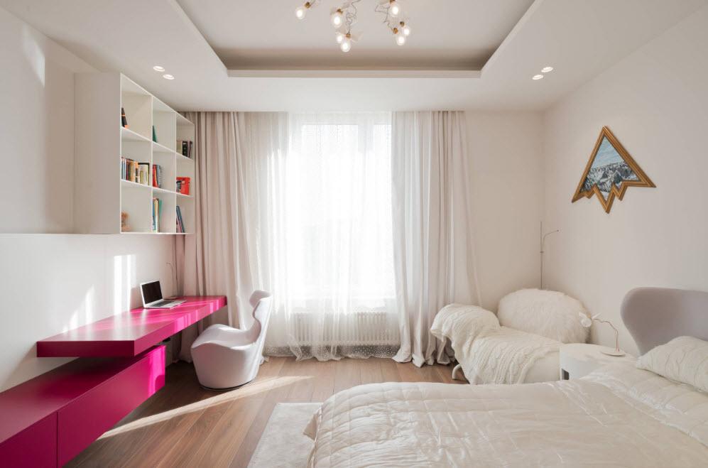 Нежный дизайн комнаты подростка
