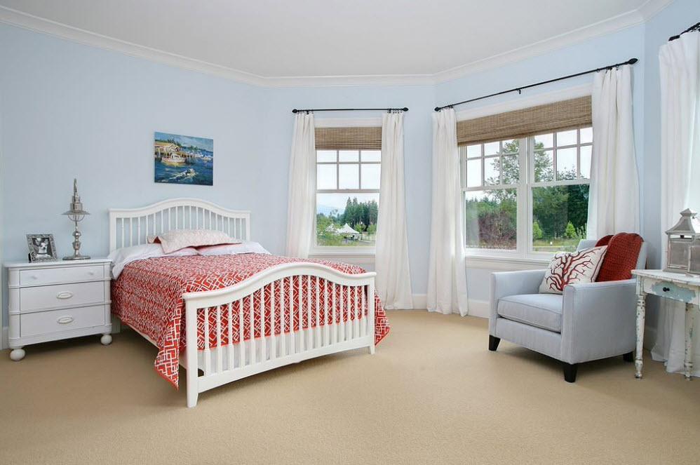 Оригинальный выбор штор для спальни