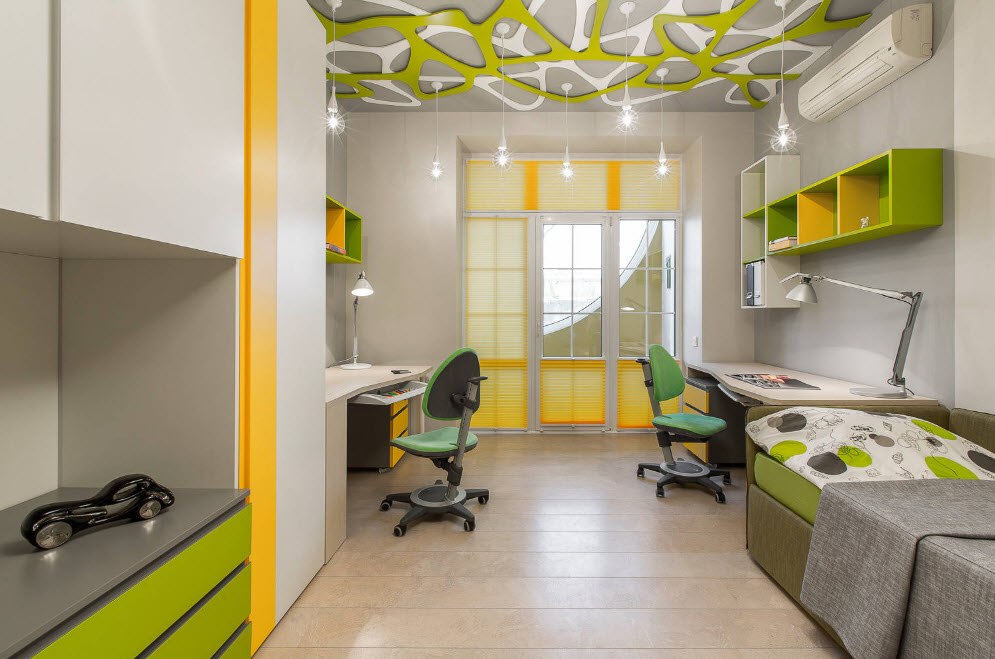 Современный дизайн в комнате подростков