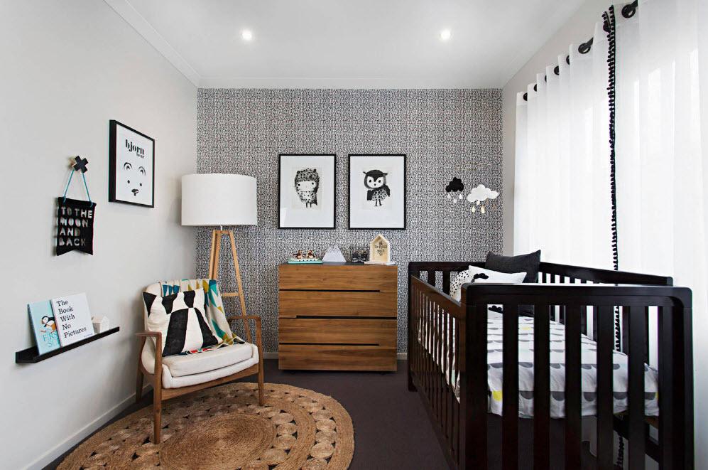 В комнате для новорожденного