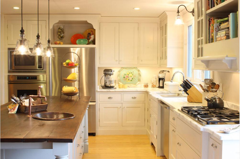 Освещение студийной кухни