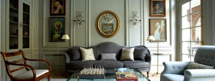 Кофейный столик в интерьер гостиной