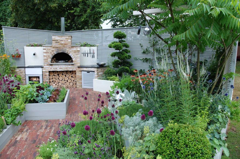 Место для отдыха и приготовления пищи на огне