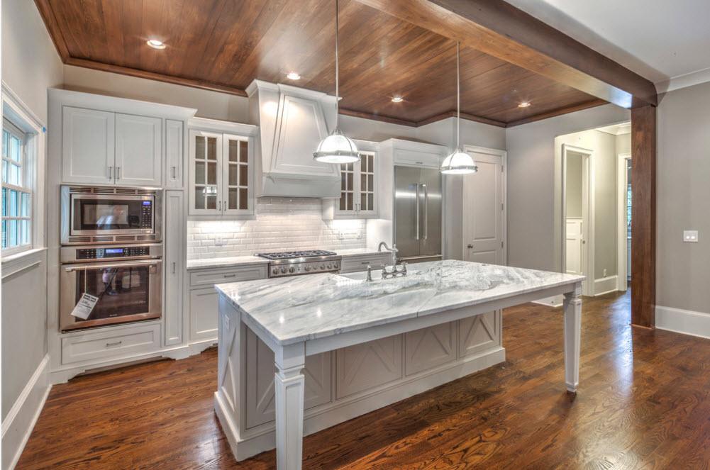 Природные материалы в кухонном пространстве