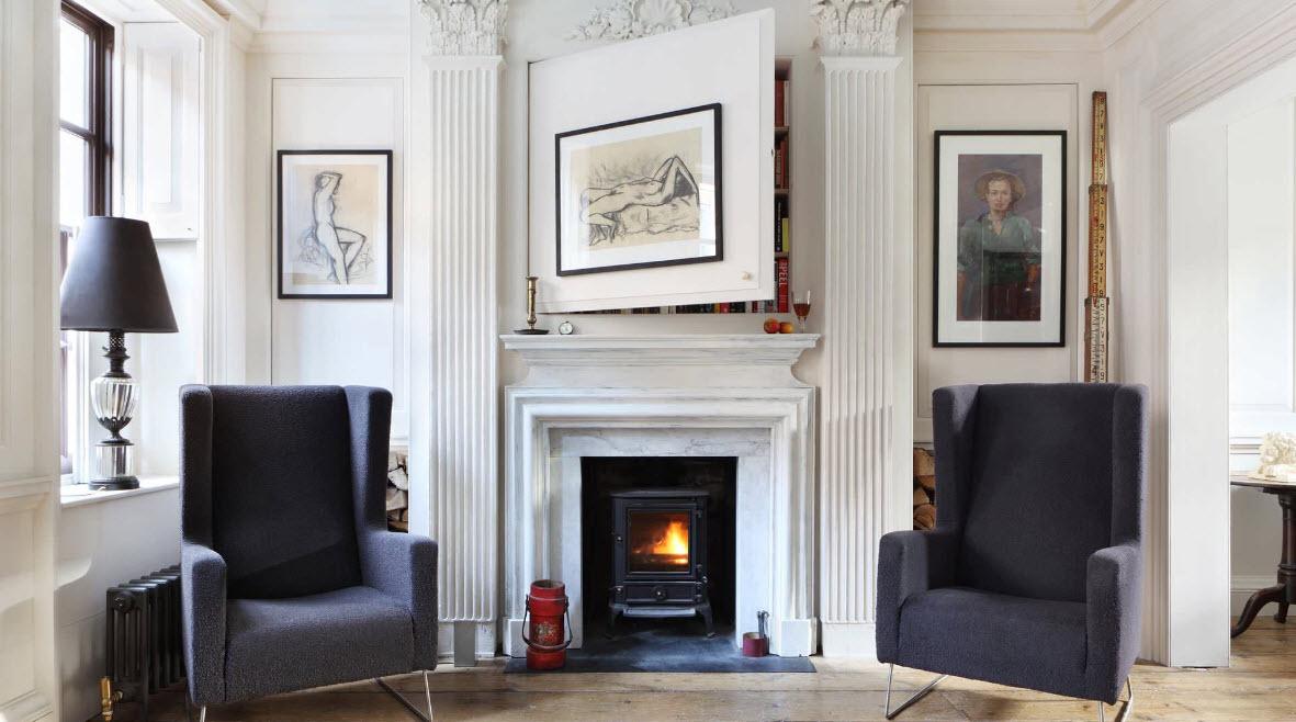 Симметрия и лаконизм в дизайне гостиной