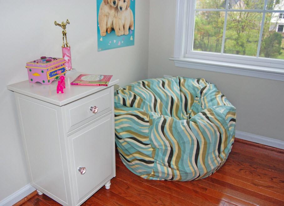 Пестры текстиль для кресла-мешка
