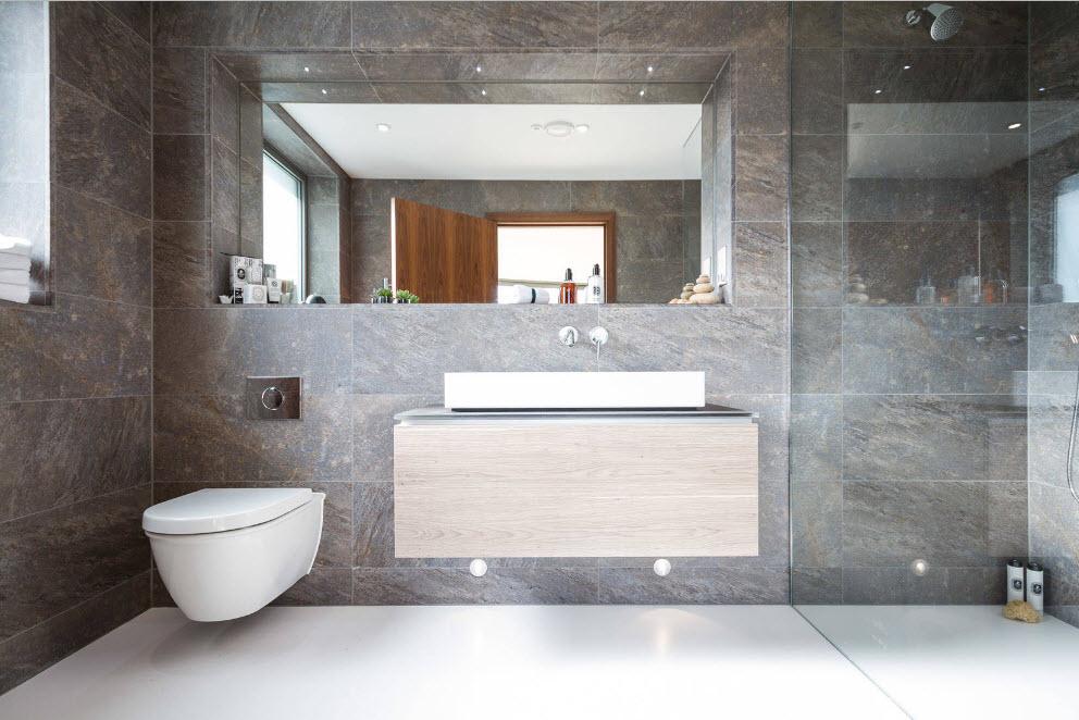 Стильная и лаконичная ванная комната