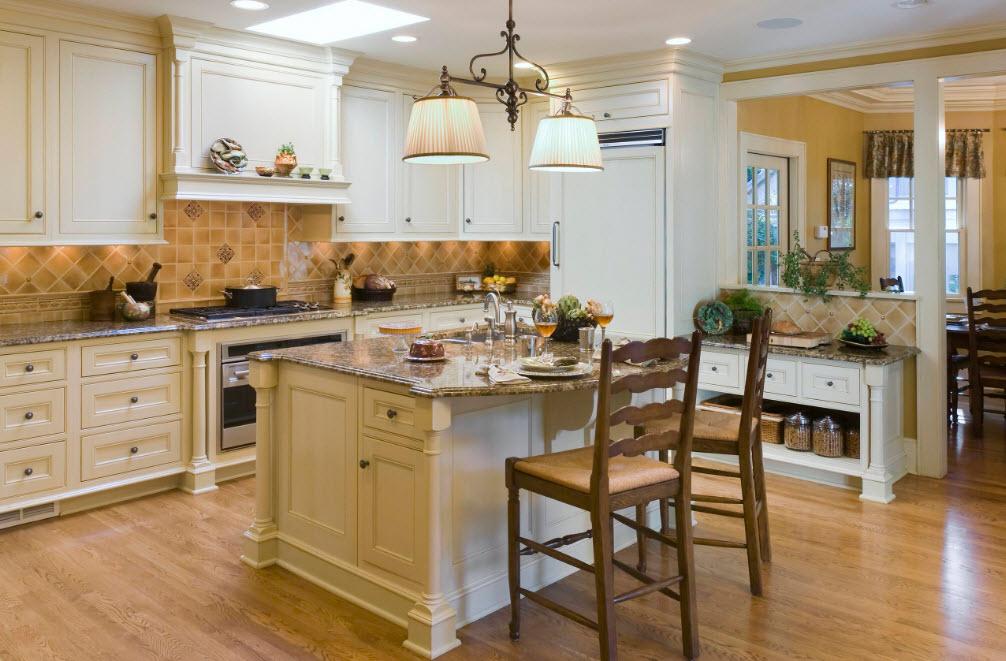Интерьер кухни в стиле неоклассика