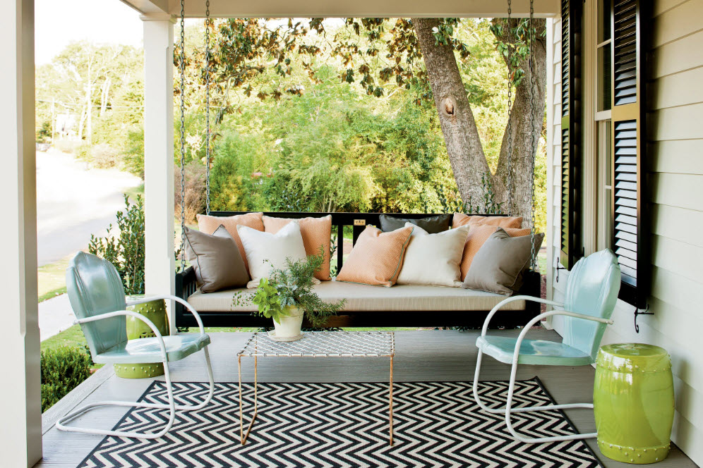 Подвесные качели-диван