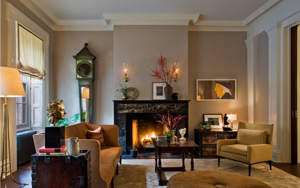 Декорирование неоклассической гостиной