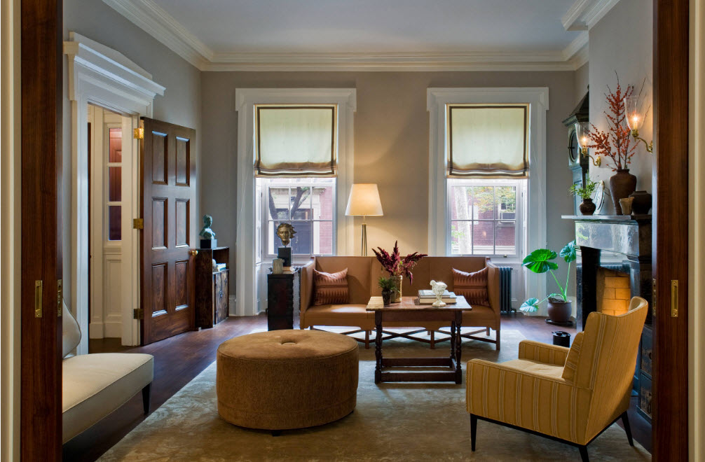 Гармоничная обстановка гостиной