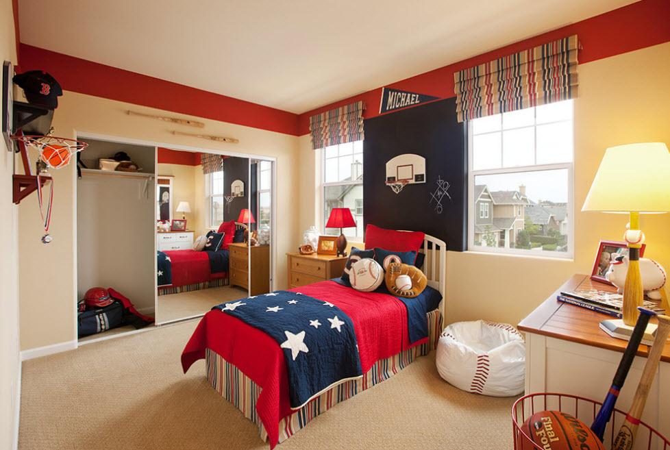 Нейтральное цветовое решение мешка для яркой комнаты