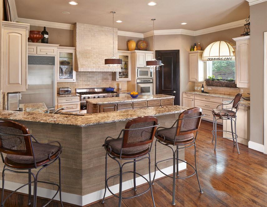 Неоклассика в кухонном помещении