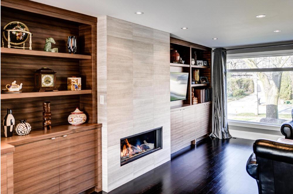 Отделка гостиной в современной стилистике